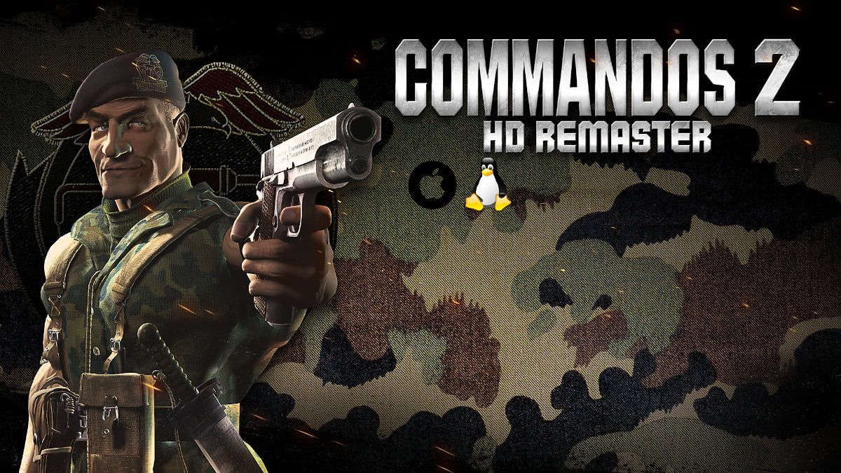 commandos 2 - hd remaster finally gets a release in linux gaming with mac beside windows pc