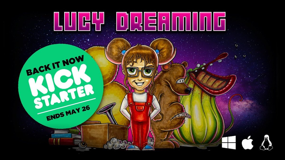 lucy dreaming retro point and click adventure hits kickstarter via linux gaming mac windows pc