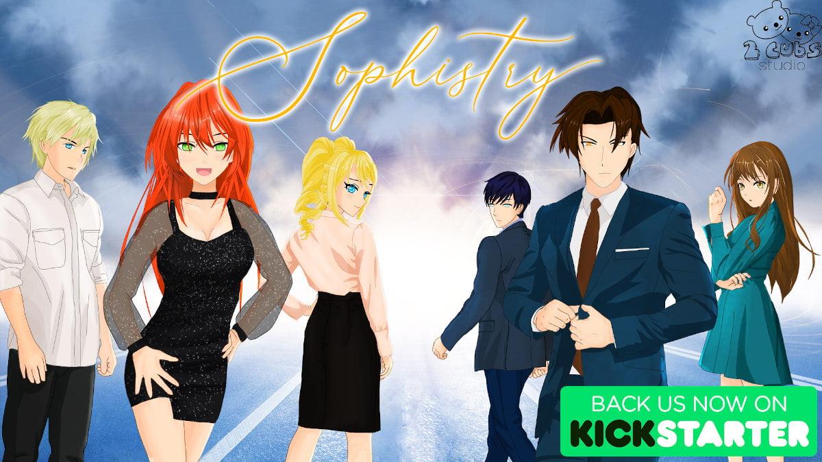 Sophistry romance visual novel is live on Kickstarter