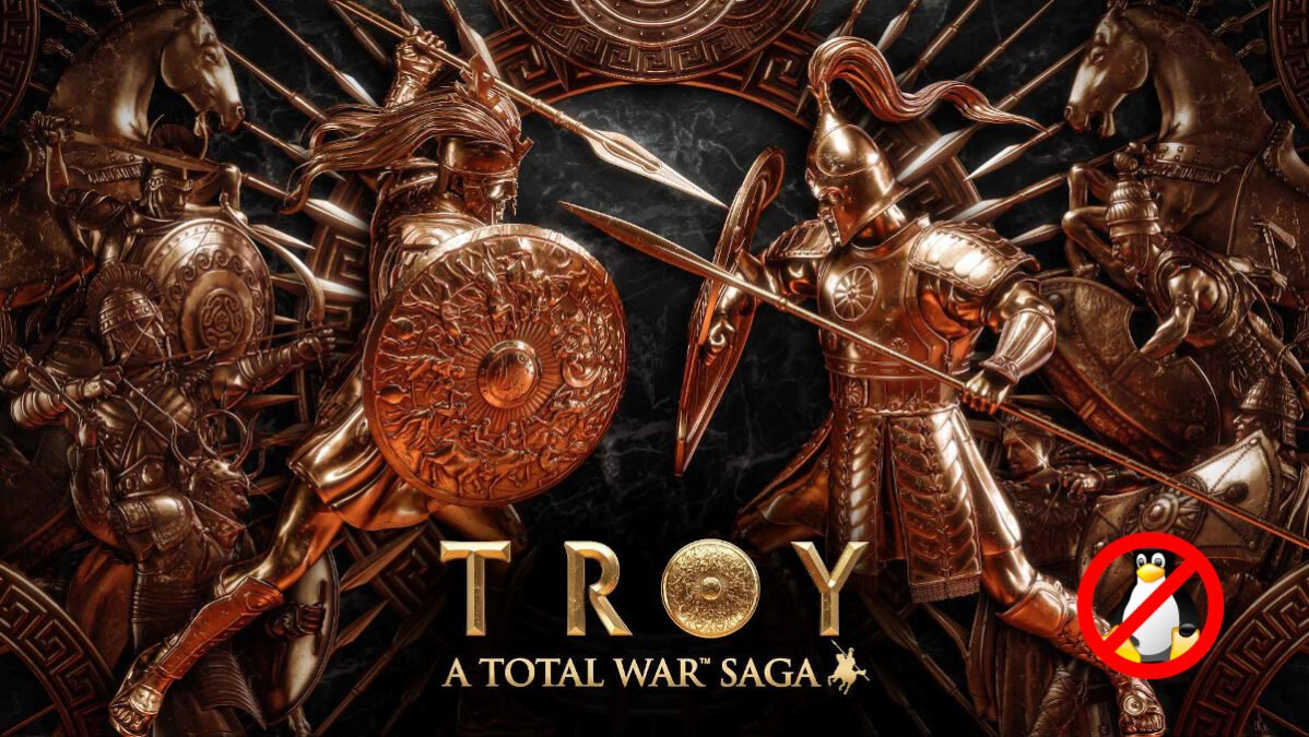a total war saga: troy the games linux support has been canceled by feral so only mac and windows pc