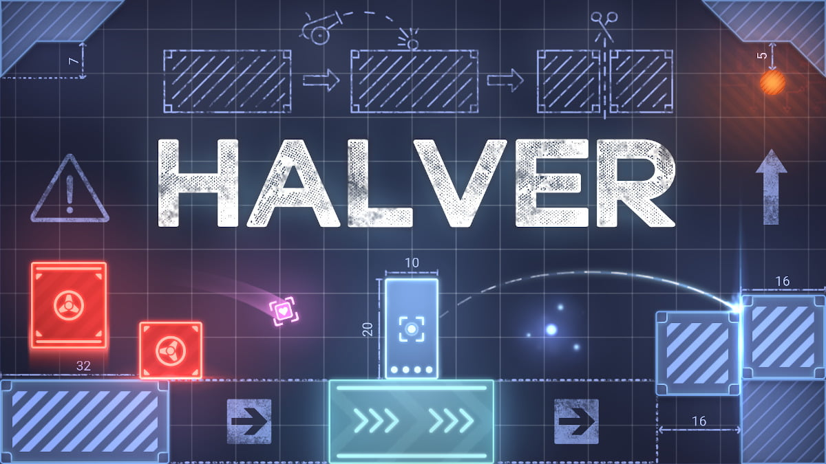halver physics puzzle platformer game to offer a port for linux with windows pc