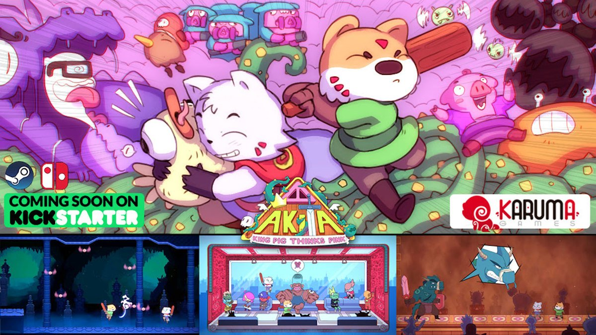 akita: king pig thinks pink platformer metroidvania game demand for linux mac windows pc