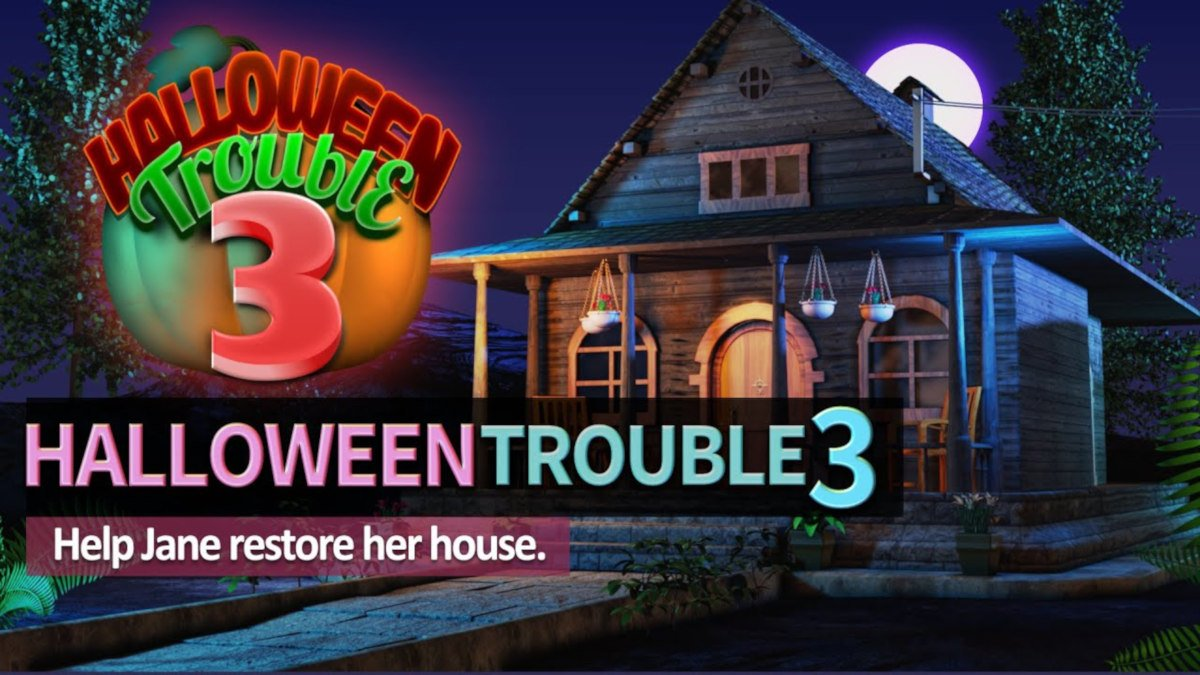 halloween trouble 3 puzzle mystery game announced for linux mac and windows pc