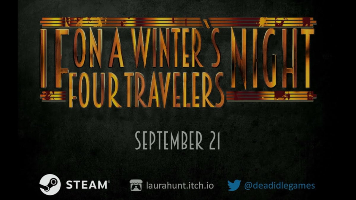 if on a winter's night, four travelers dark adventure to release free on linux and windows pc