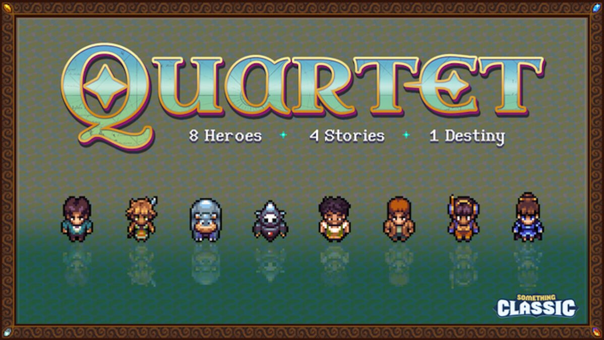 quartet retro-inspired jrpg close to funding goal for linux mac and windows pc