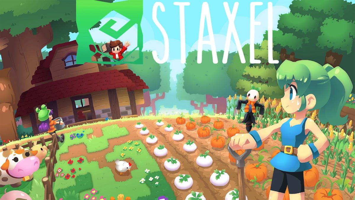 staxel farm and village life sandbox game releases a port for linux and mac with windows pc